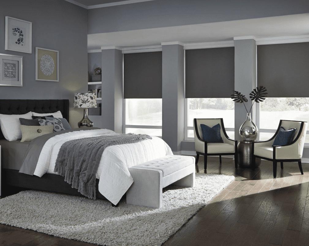 חדר שינה בבית חכם של LUTRON בחדר שינה